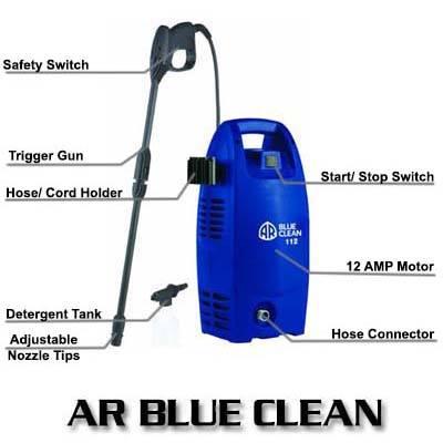 AR Blue Clean AR112 1600PSI 1.58 GPM Electric Pressure Washer