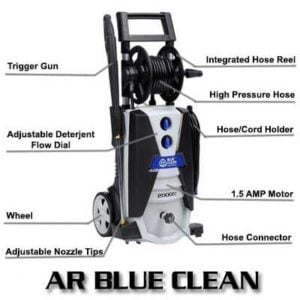 AR Blue Clean AR390SS Cold Water Electric Pressure Washer Review