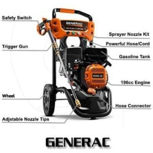 Generac 6922 2800 PSI 2.4 GPM Pressure Washer Review