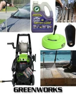 GreenWorks GPW1702 1700 PSI 1.2 GPM Electric Power Washer