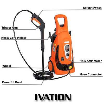Ivation 2200 PSI 1.8 GPM Electric Pressure Washer