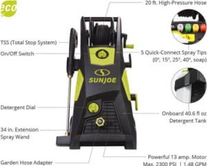 Sun Joe SPX3501 2300-PSI 1.48 GPM Electric Pressure Washer Review
