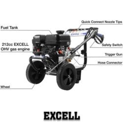 excell 3100 psi pressure washer