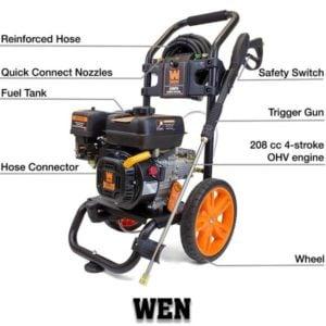 WEN PW31 3100 PSI Gas Pressure Washer, 208 cc