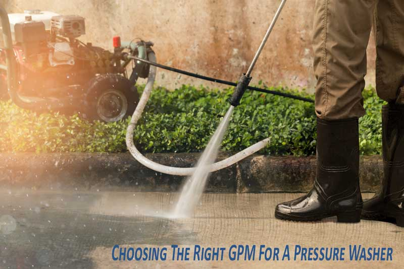 what is a good gpm for a pressure washer