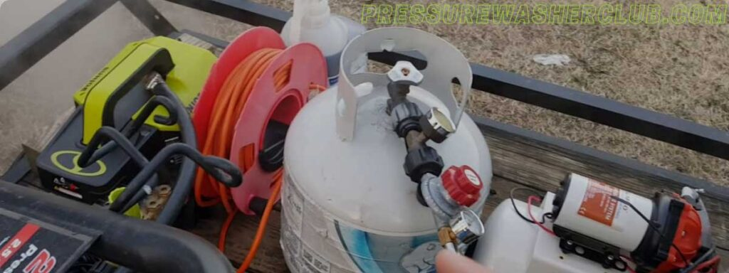do i need a pump between my tank and pressure washer