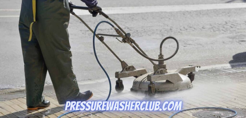 How do you pressure wash a driveway with a surface cleaner