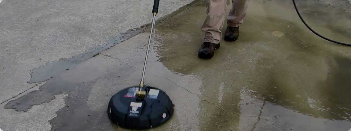 how to use a pressure washer surface cleaner