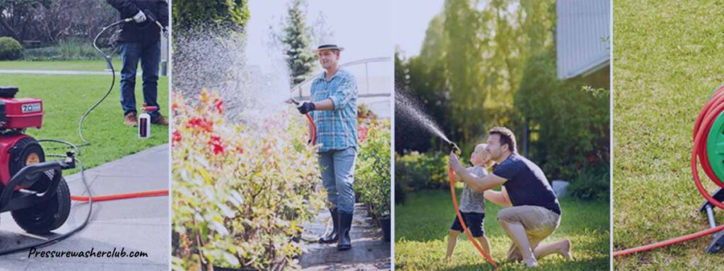 can you use a garden hose on a pressure washer