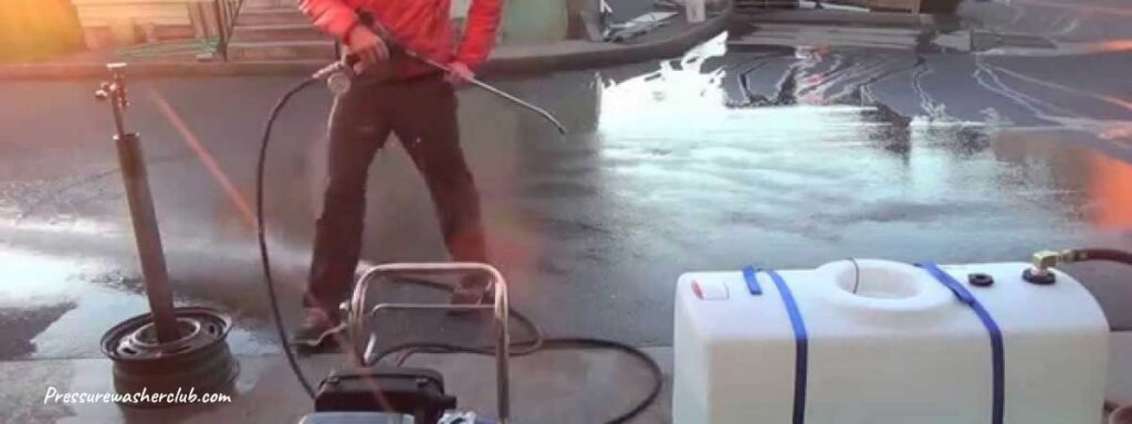 will a pressure washer work with gravity fed water